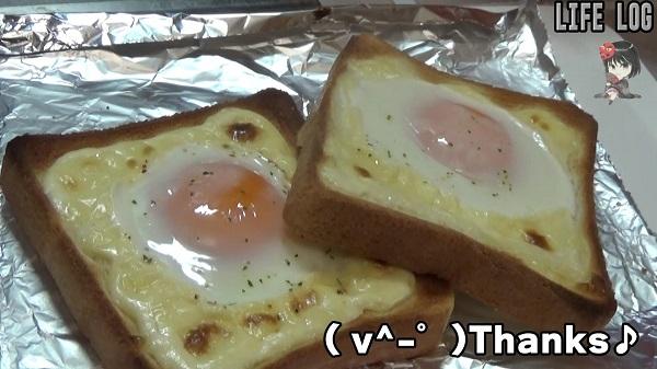 ラピュタパン(目玉焼きトースト)食パンでの作り方、ずぼら飯としても簡単で美味い!