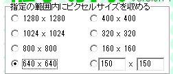 ピクセルサイズ指定