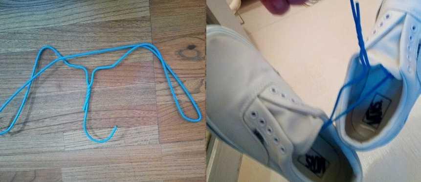 はりがねで吊るした靴