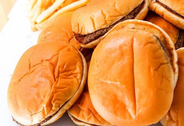 ファーストフード店ハンバーガー