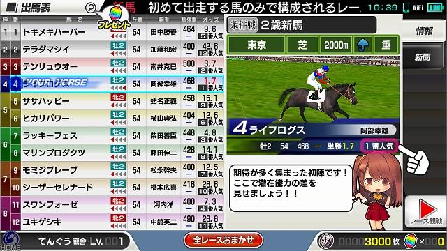 レースの予想表
