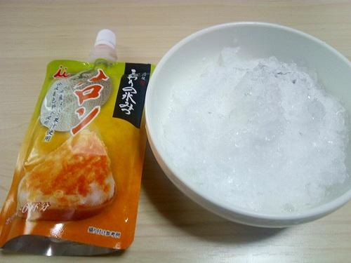 メロンシロップとかき氷