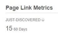 貼られた60日以内の被リンク数