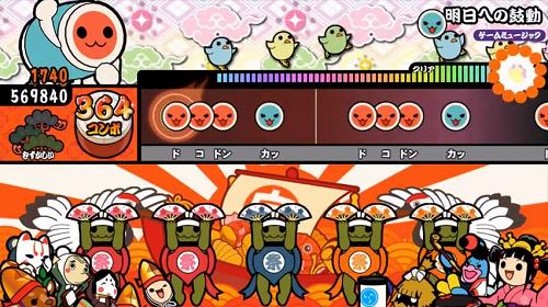太鼓の達人ゲーム画面