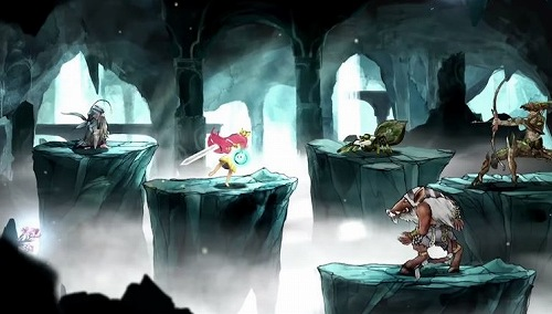 チャイルドオブライトの戦闘画面