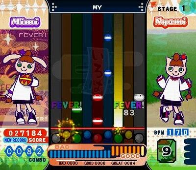 ポップンミュージック12のゲーム画面