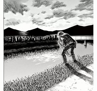 広瀬川でサックスを吹く宮本大