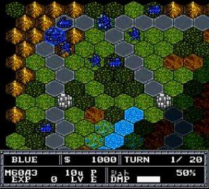 大戦略エキスパートのゲーム画面