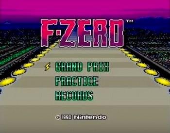 F-ZEROのタイトル画面