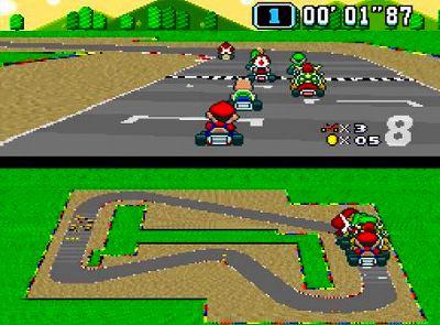 スーパーマリオカートのスクリーンショット