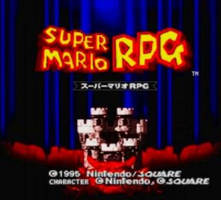 スーパーマリオRPGのタイトル画面