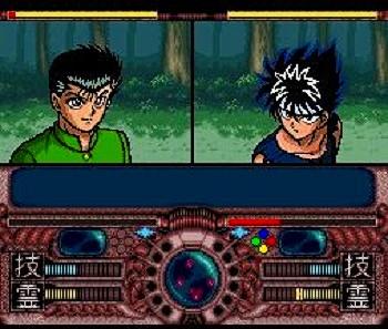スーファミ版の幽☆遊☆白書の戦闘画面