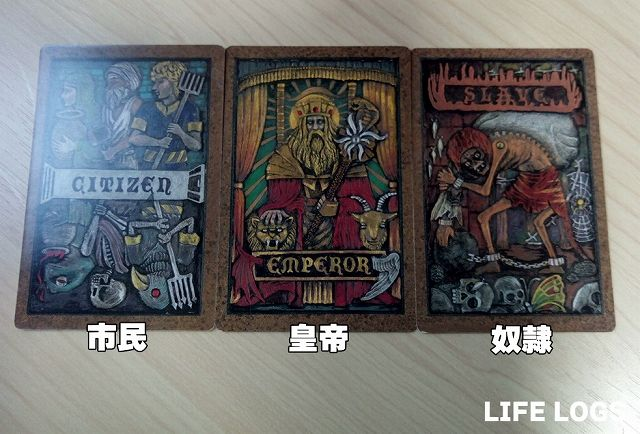 市民・皇帝・奴隷のカード