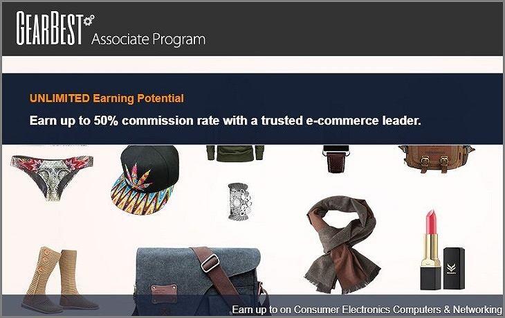 GearBest(ギアベスト)のアフィリエイト登録利用方法【最新版】広告リンク作成と報酬受取まで