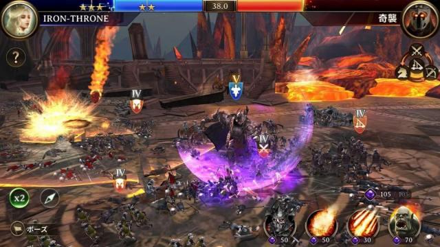 Iron Throneの戦闘画面
