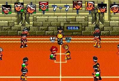 炎の闘球児 ドッジ弾平のゲーム画面