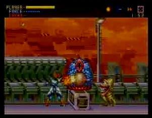 エイリアンソルジャーのゲーム画面