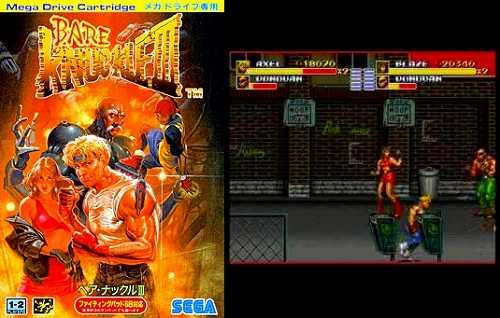ベア・ナックル3のパッケージ画像とゲーム画面