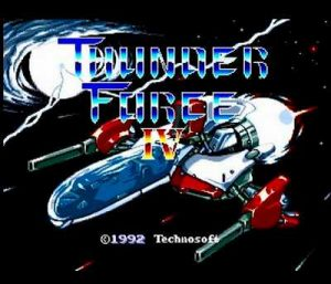 サンダーフォース Ⅳのタイトル画面