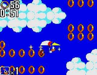 ソニック・ザ・ヘッジホッグ2のゲーム画面