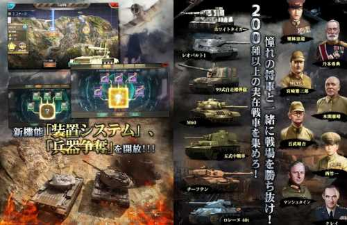 戦車帝国のシステムと登場人物紹介