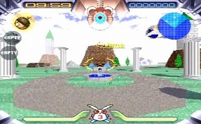 ジャンピングフラッシュのゲーム画面