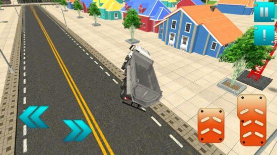 モダン家建設3Dのトラック走行画像