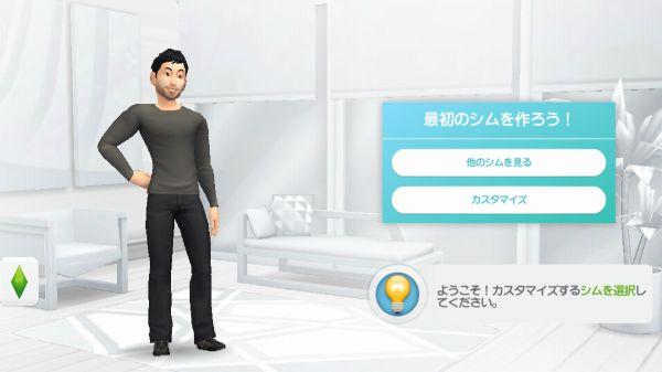 thesimsのキャラクター画面