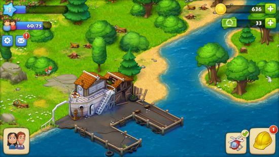 タウンシップの街づくり画面