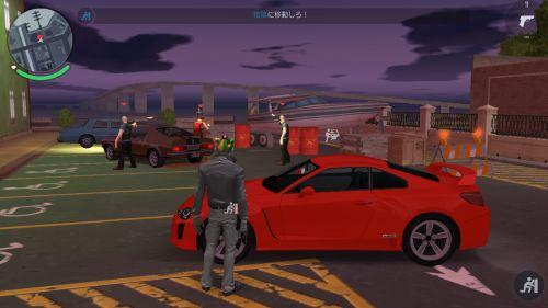 ギャングスター ニューオーリンズのフィールド画面