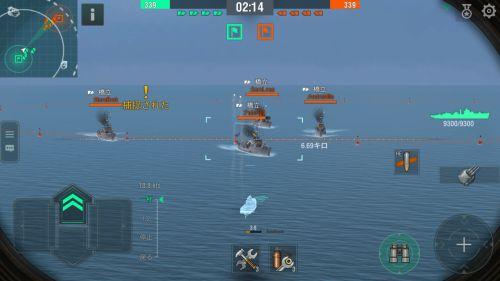ワールド・オブ・ウォー シップ Blitzの戦闘シーン