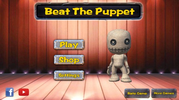 BeatThePuppetのタイトル画面