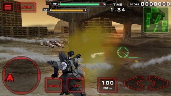 Destroy Gunners Σの戦闘シーン