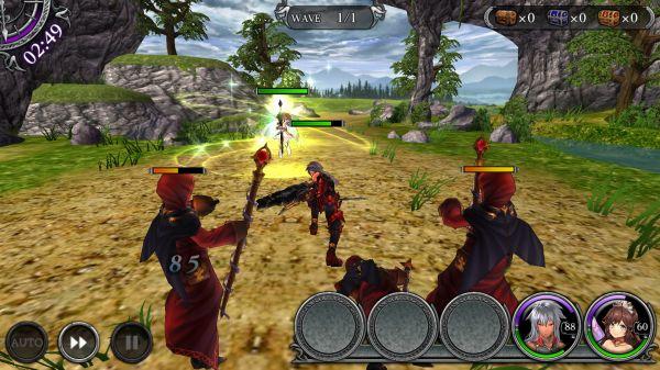 ダークリベリオンの戦闘画面