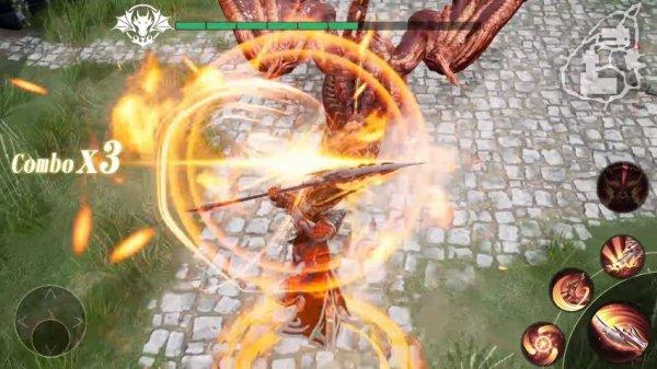 レジェンドオブリングの戦闘画面