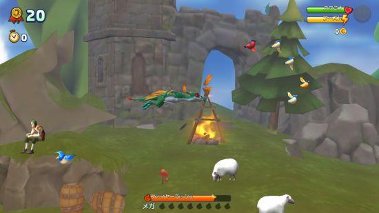 ハングリードラゴンのゲーム画面