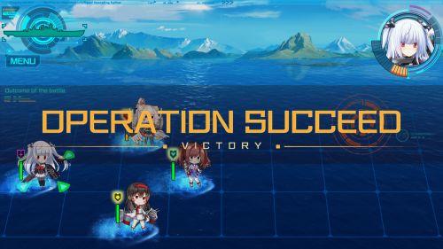 蒼青のミラージュの戦闘画面
