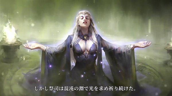 祈りを捧げる巫女
