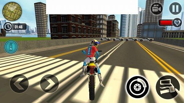 バイクエスケープ警察チェイスのゲーム画面