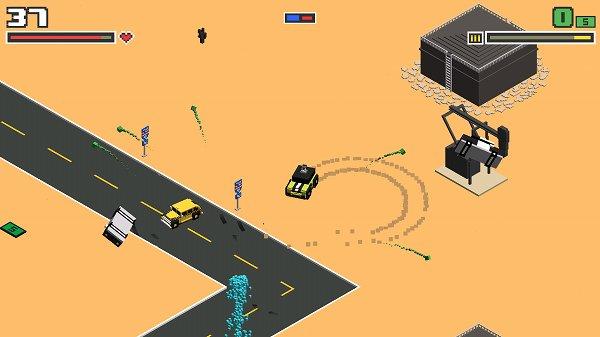 Smashy Road Arenaのパトカーをふっとばすシーン