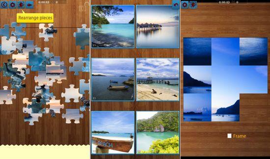 シースケープのジグソーパズルゲームと画像