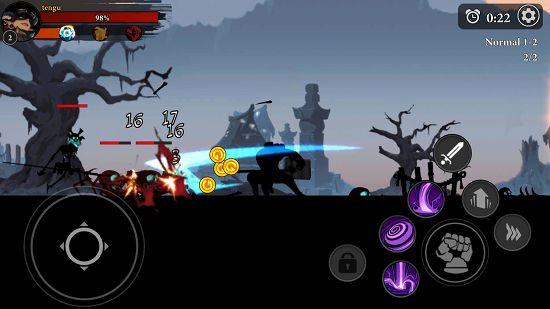 NinjaLegendsのステージ画面