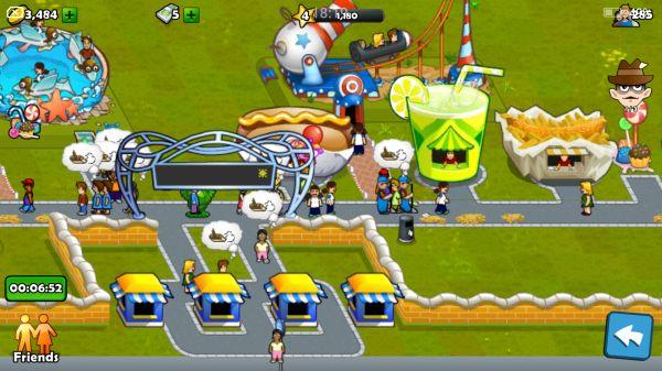 Rollercoaster Maniaの遊園地画面