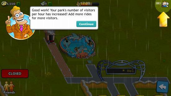 テーマパークの訪問者数の説明