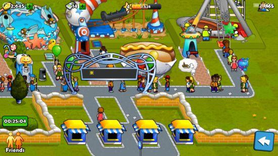 ローラーコースターマニアのゲーム画面