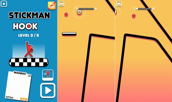 Stickman Hookのゲーム画像