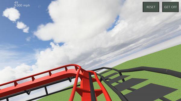 Ultimate Coasterのジェットコースター視点の画像