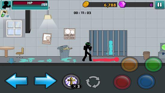 Anger of stick 5 : zombieの棒人間を救出するシーン