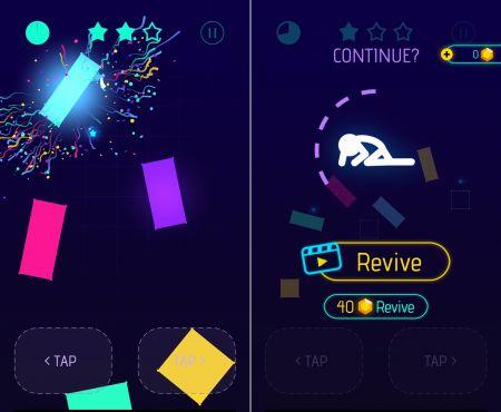 Light-It Upのステージとゲームオーバー画面