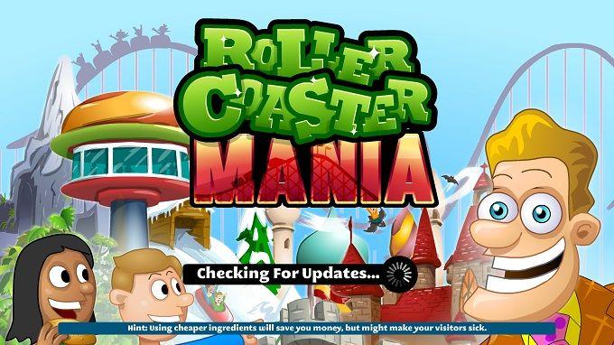 Rollercoaster Maniaのタイトル画面